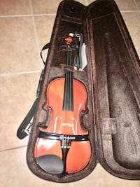 brown and black violin set with case Vancouver, V5T 2A3