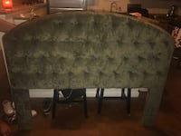 Olive suede cushioned headboard from Calico Corners! 23 mi