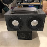 JBL dual subwoofer with 1500 amp