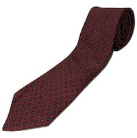 Brooks Brothers Classic Floral Red and Blue Mens Necktie 100% Silk Work Tie. Clarksville
