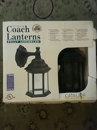 black Coach Lanterns Catalina lantern sconce box Toronto, M3M