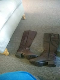 brown leather knee-high boots Middletown, 10940