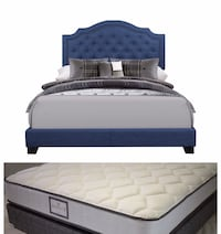 Queen Bed (New In Factory packing) without mattress $350.