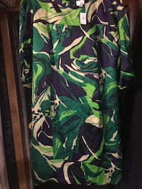 green, black, and white floral shirt Castlewood, 24224