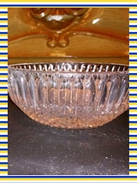 brown cut glass bowl with lid Martinez, 30907