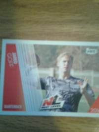 Jared Goff football player trading card New Bedford, 02746