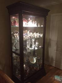 Howard Miller, beautifully crafted Curio Cabinet. Solid wood with glass Vaughan, L4H