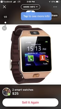 silver smartwatch with black strap Coleman, 76834