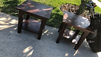 Two brown wooden side tables Saint Augustine, 32092