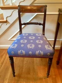 2 federal inlaid mahogany side chairs McLean