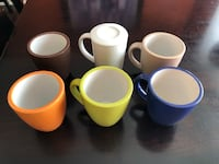 6 mugs, one with lid Edmonton, T6T 0M7