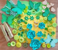 Green, lime green, mint green Embellishment Kit Airdrie, T4B 0E4