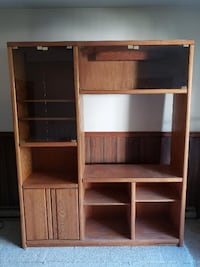 Solid Oak Entertainment Center HERNDON