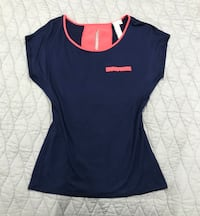 New Robin K Nordstrom Navy Blue Top   Size Small