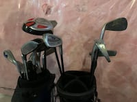 Kids various golf clubs and 2 golf bags Vaughan, L4L 9A2