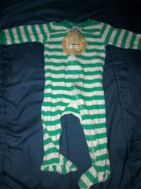 green and white striped onesie Gaithersburg, 20878