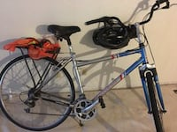 Cruiser 17c bicycle 18 speed Curry Freedom with hand grip gearing, rack, helmet, safety vest shocks SCOTTSDALE