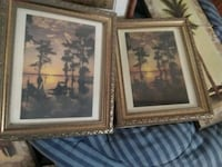 two brown wooden framed paintings Pineville, 71360