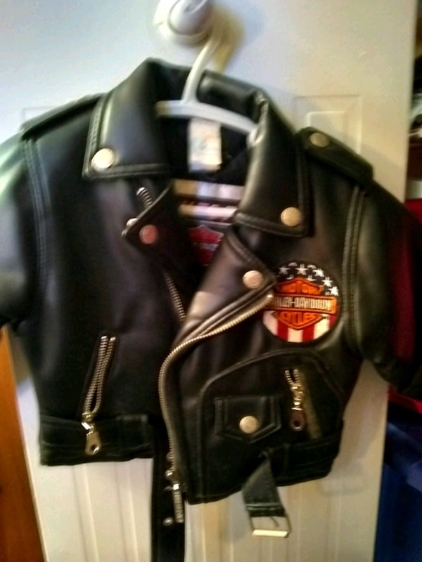 Sz 18 Mo Vintage Harley Davidson Leather Jacket Usagé à Vendre à