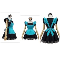 Brand New Cosplay Black and Teal Butler Maid Dress
