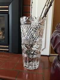 "14"" Waterford Crystal Vase Beaconsfield, H9W"