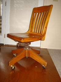 Oak Desk Chair Buffalo Valley