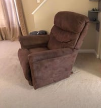 brown suede recliner sofa chair Frederick, 21703