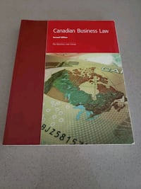 Canadian Business Law textbook Toronto, M8Y 0B3