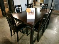 Rectangle dark wood dining table and chairs set  Pineville, 28134