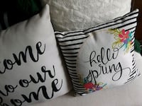 HELLO SPRING quote pillow York