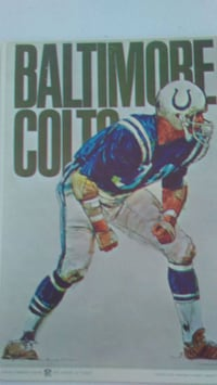 1970 Fleer Football Big Signs Colts (7 3/ Lubbock, 79404