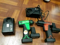 green and black cordless power drill Alexandria, 22310