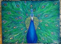 40x30 inches Peacock acrylic painting  Vaughan, L4J