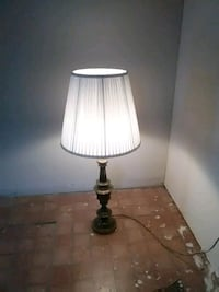 white and brown table lamp Laredo, 78046