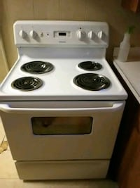 white and black 4-coil electric range oven North Little Rock, 72114