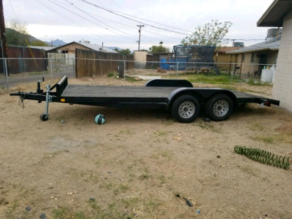 black steel utility trailer
