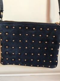 Asos blue and gold suede cross-body bag Budapest VII. kerület, 1073