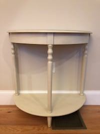 Half Round Off White Table Danvers, 01923