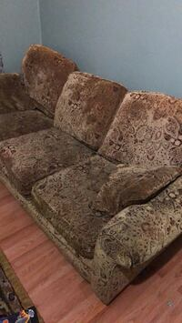 brown and gray floral fabric sofa East Patchogue, 11772