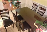 ASHLEY 7 piece Dining Set with Table Glass