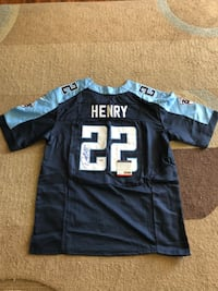 Tennessee Titans Derrick Henry signed jersey with COA by PSA/DNA. Asking $100 Bellevue, 44811
