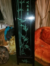 4 panel black lacquered hand painted partiton San Jose, 95130