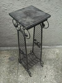 Plant stand (metal, wood)