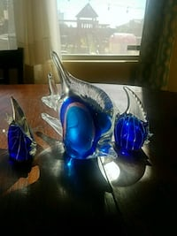 Pier One glass fish set