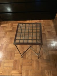 Small glass topped table 13x13x23 inches high New York, 10003