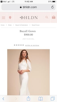 BHLDN (Anthropologie) Bacall wedding dress. New Westminster, V3M 3A3