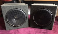 "Two 15"" Bass Subwoofer Speaker Cabs Cabinets"
