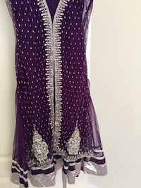 Purple and white polka dot sleeveless dress Germantown