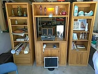 Three piece entertainment center.