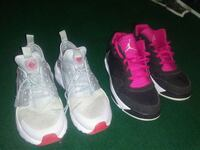 pair of gray-and-pink Nike running shoes Brownsville, 78520